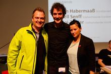 Simon Habermaaß, André Zeitler und Isabell Senff freuen sich über das Vertrauen der Delegierten.