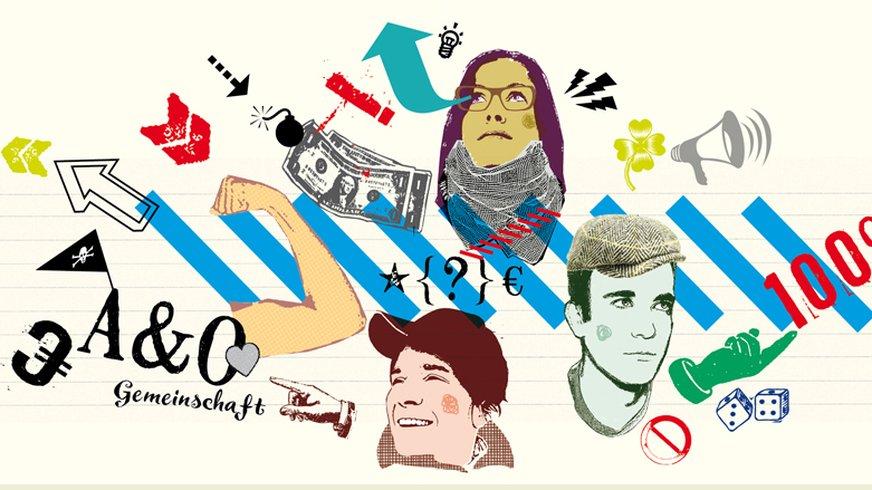 Vernetzen, Illustration der ver.di Jugend